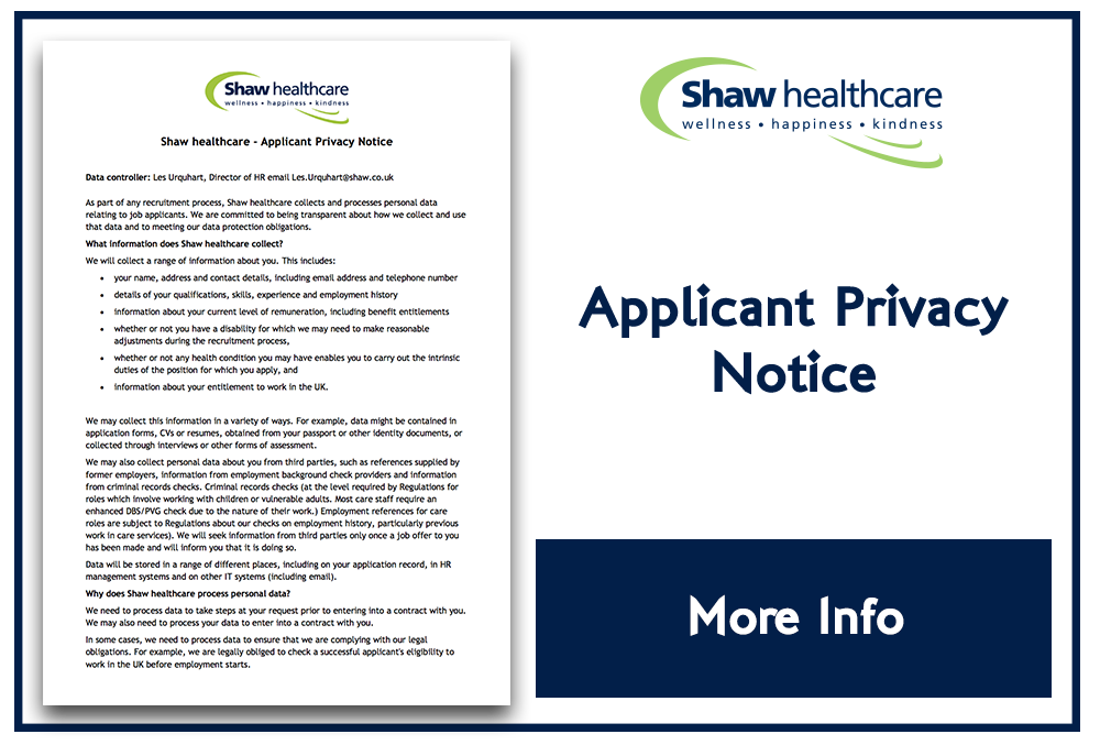 Shaw Applicant Privacy Notice