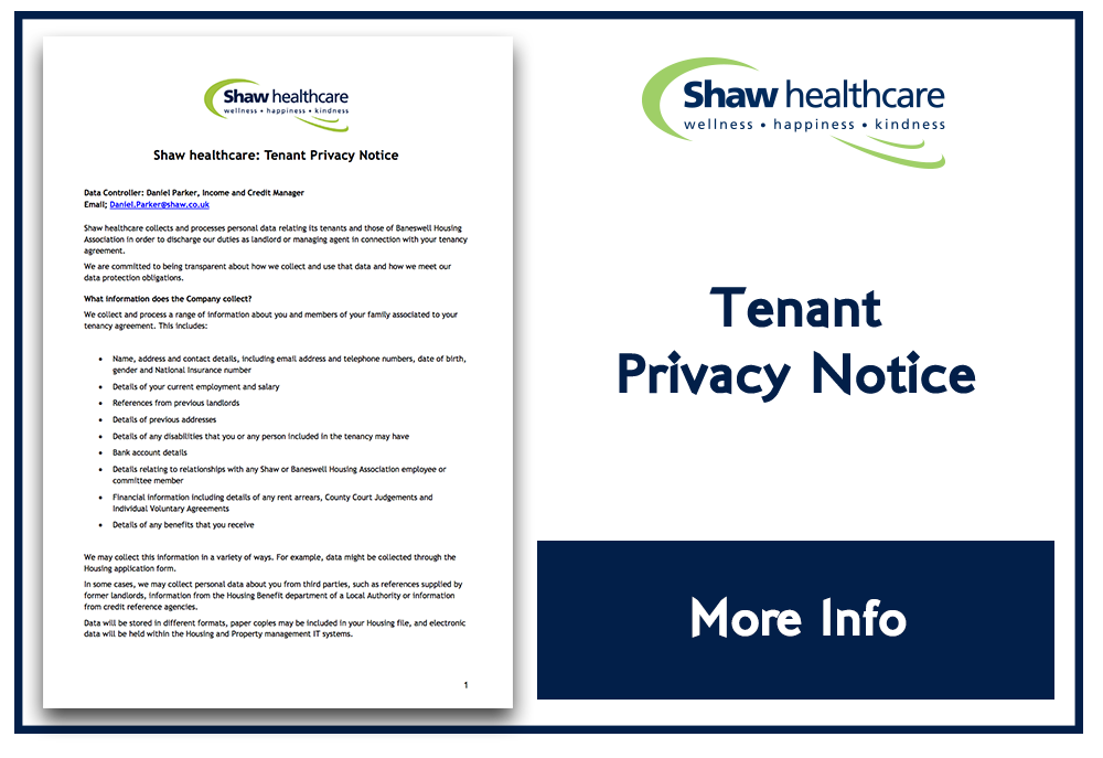 Shaw Tenant Privacy Notice