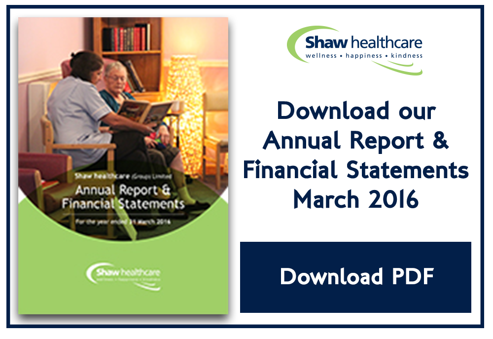 Shaw financial reports March 2016